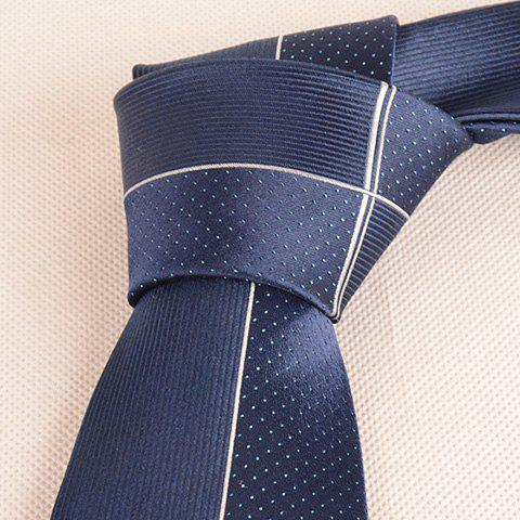 Discount Tiny Dot Pinstriped Mulberry Silk Tie - CADETBLUE  Mobile
