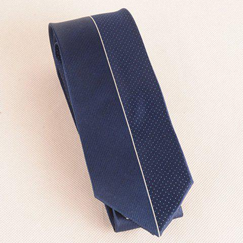 Best Tiny Dot Pinstriped Mulberry Silk Tie - CADETBLUE  Mobile