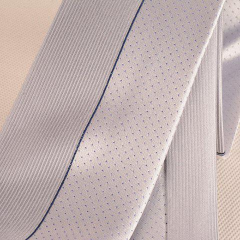 Affordable Tiny Dot Pinstriped Mulberry Silk Tie - FROST  Mobile