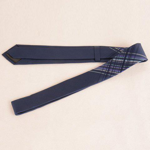 Affordable Mulberry Silk Striped Tie - CADETBLUE  Mobile