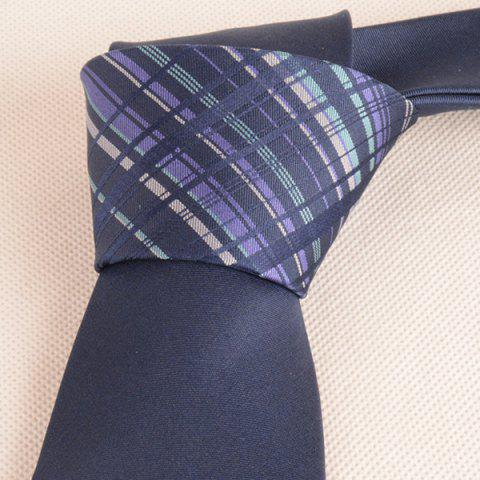 New Mulberry Silk Striped Tie - CADETBLUE  Mobile