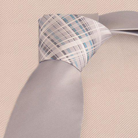 New Mulberry Silk Striped Tie - FROST  Mobile