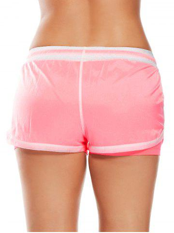 New Layer Sports Drawstring Running Shorts - S WATERMELON RED Mobile