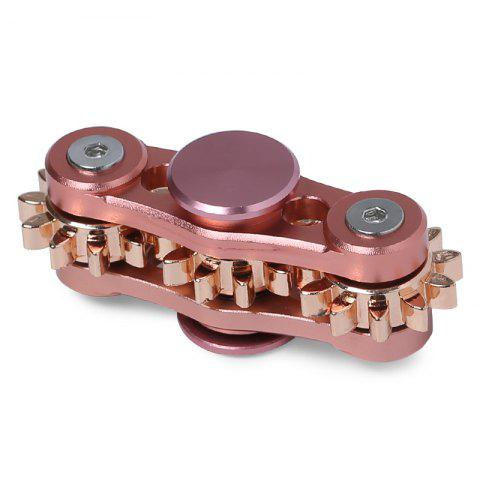 Shops EDC Stress Relief Toy Finger Gyro with Gear PINK 6.5*6.5CM