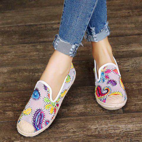 Outfits Mesh Flower Pattern Flat Shoes - 39 WHITE Mobile