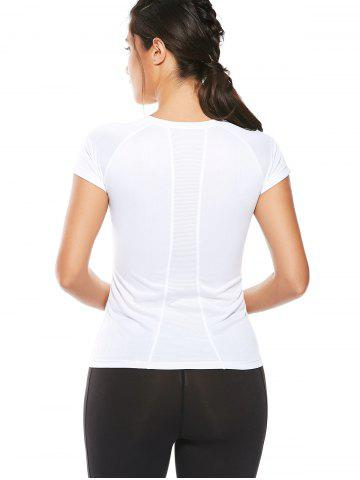 Latest Graphic Quick Dry Running Gym T-Shirt - XL WHITE Mobile