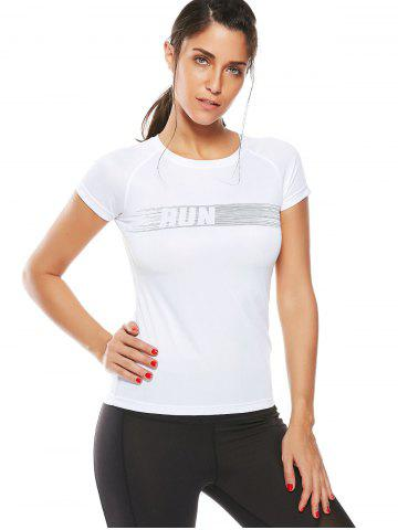 Outfit Graphic Quick Dry Running Gym T-Shirt - XL WHITE Mobile