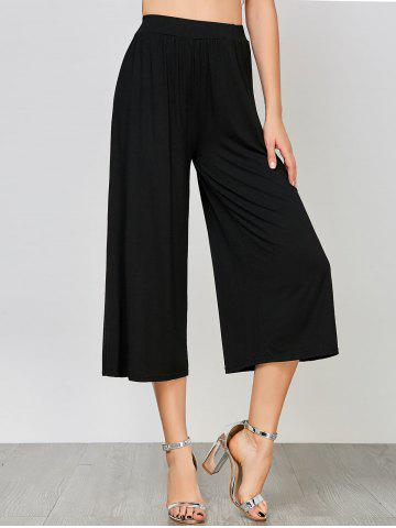 Latest Ninth High Waisted Palazzo Pants BLACK 2XL