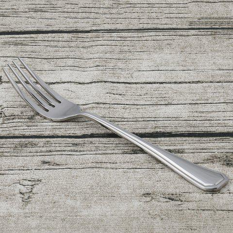 Outfit Teaspoon Fork Spoon Knife Stainless Steel Flatware - 1 SET STAINLESS STEEL Mobile