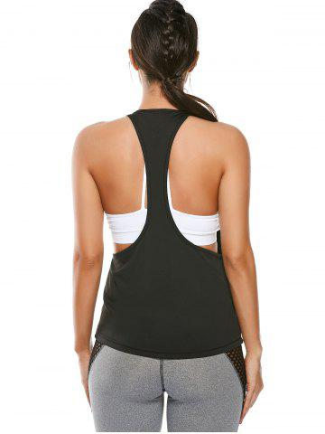 Affordable Racerback Work Out Layering Running Tank Top - S BLACK Mobile