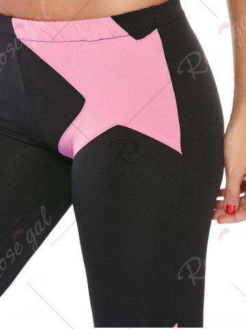 Unique Sports Padded Bra and Two Tone Fitness Leggings - S PINK Mobile