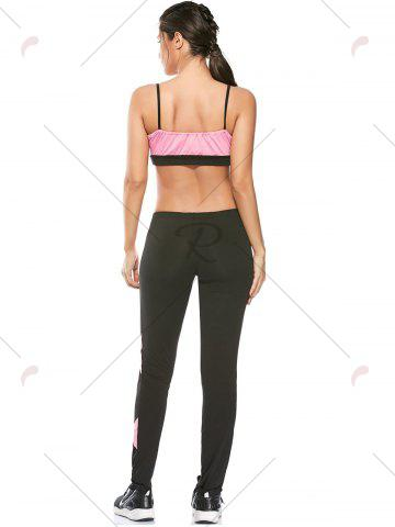 Buy Sports Padded Bra and Two Tone Fitness Leggings - S PINK Mobile