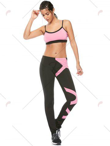 Sale Sports Padded Bra and Two Tone Fitness Leggings - S PINK Mobile