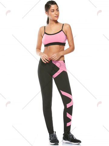 New Sports Padded Bra and Two Tone Fitness Leggings - S PINK Mobile