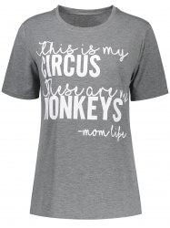 Circus Monkeys Graphic Print Muscle Tee