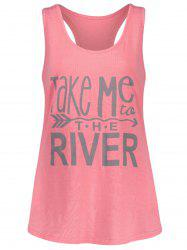 Racerback Take Me River Tank Top - Rose De Pêches