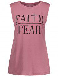 Faith Fear Graphic Tank Top