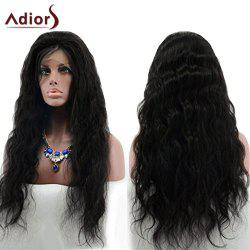 Adiors Long Free Part Layered Shaggy Wavy Lace Front Synthetic Wig - BLACK