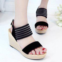 Wedge Heel Elastic Sandals