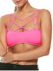 Padded Cross Strappy Bralette