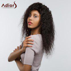 Adiors Long Thick Side Bang Shaggy Curly Lace Front Synthetic Wig - BLACK 02#