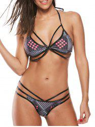 Strappy Halter String Bikini Set