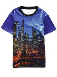 High-Rise Buildings Printed Crew Neck T-Shirt