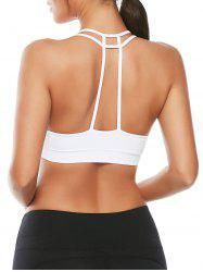 Caged Strappy Padded Sports Bra - WHITE