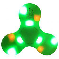 LED Lights Fidget Spinner with USB Charging Bluetooth Speaker - GREEN