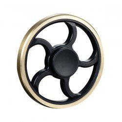 Anti-Stress Toy Wheel Shape Finger Gyro Fidget Spinner - Noir