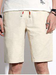 Casual Back Pocket Drawstring Shorts