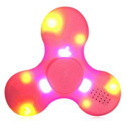 LED Lights Fidget Spinner with USB Charging Bluetooth Speaker - PINK