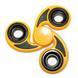 Stress Relief Toy Tri-Bar Finger Gyro Hand Spinner - YELLOW
