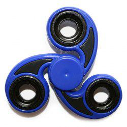 Stress Relief Toy Tri-Bar Finger Gyro Hand Spinner - BLUE
