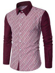 Allover Printed Colorblocked Long Sleeve Shirt