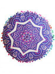 Mandala Round Cushion Floor Pillow Pouf Cover - PURPLE