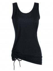 Ruched Long Drawstring Tank Top