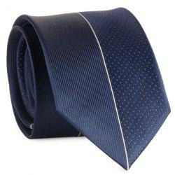 Tiny Dot Pinstriped Mulberry Silk Tie - CADETBLUE