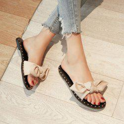 Studded Bow Slippers