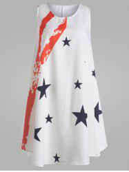 American Flag Mini Trapeze Dress - WHITE