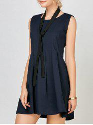 Mini Pleated Casual Dress with belt