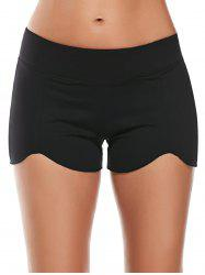 Elastic Waist Asymmetric Mini Athletic Running Shorts