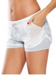 Layer Sports Drawstring Running Shorts