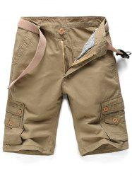 Zip Fly Army Cargo Shorts