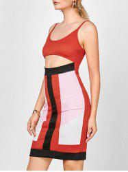 Cutout Bodycon Slip Dress