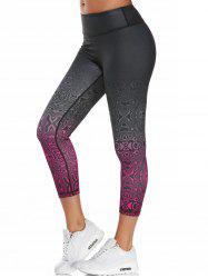 Colorful Pattern Capri Work Out Leggings - TUTTI FRUTTI