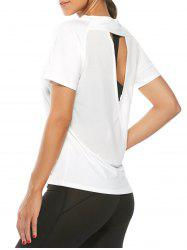 Quick Dry Back Surplice Mesh Insert T-Shirt