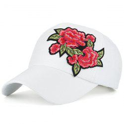 Retro Flowers Embroidered Baseball Hat