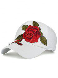 Showy Flower Embroidered Baseball Hat