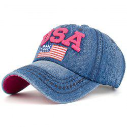 USA Flag Embroidered Baseball Cap
